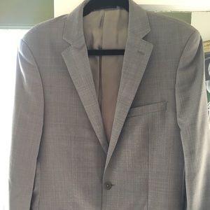 Men's Grey Calvin Klein Suit - 40L